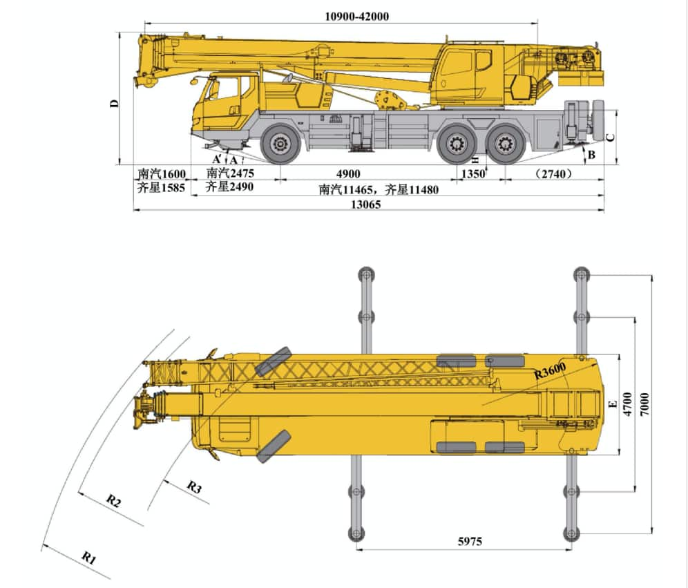 XCMG Official XCT35 Truck Crane for sale