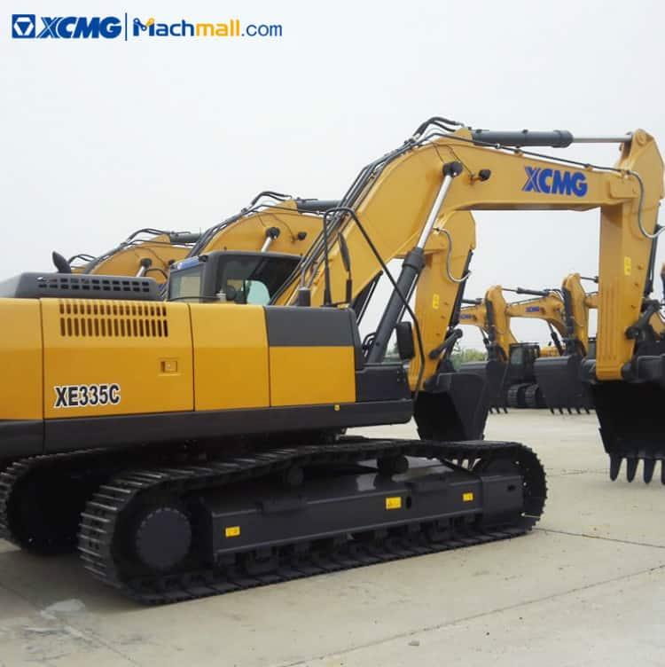 XCMG 30 ton crawler excavator machine with excavator attachments XE335C price