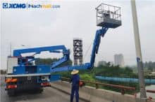 XCMG articulated boom truck 18m rated load 250kg boom lift truck for sale
