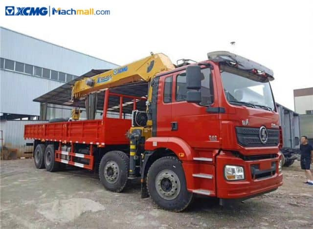 XCMG 8*4 16 ton hydraulic construction mobile truck with crane price
