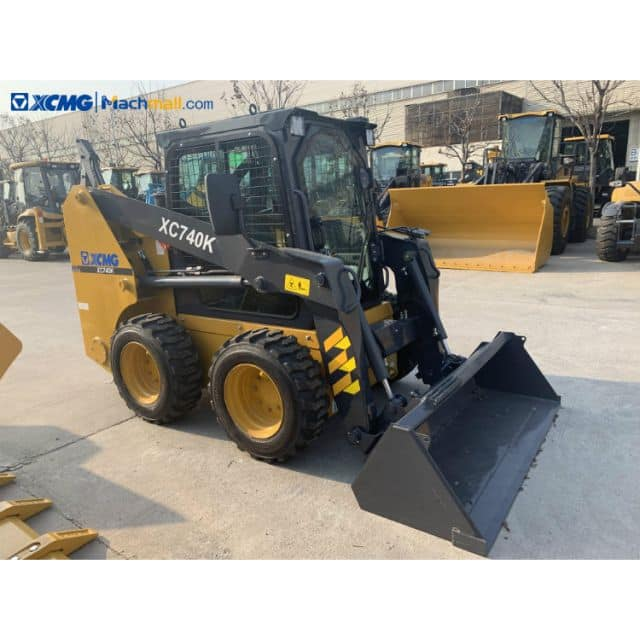 XC740K skid steer loader with 4 in 1 bucket for sale
