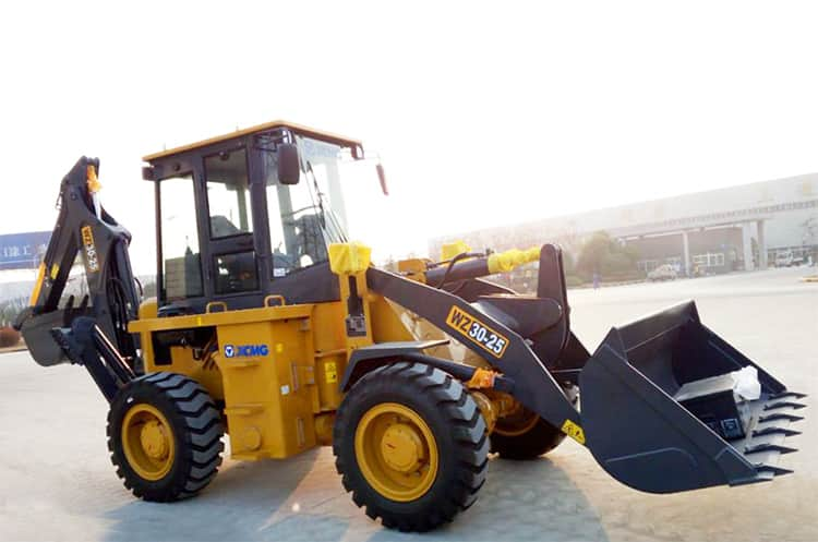 XCMG Official 2.5 ton mini tractor with backhoe and front loader WZ30-25 Price