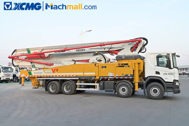 XCMG concrete pump truck with Scania chassis HB58V price in Sri Lanka