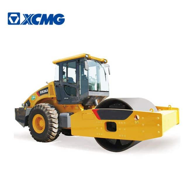 XCMG 26 ton XS263 China heavy duty single drum vibratory road rollers for sale