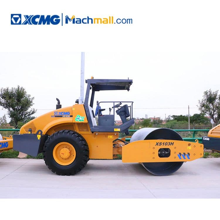 XCMG factory 10 ton XS103H single drum vibratory road roller price