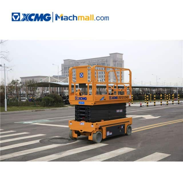 XCMG factory 12m hydraulic scissor lift XG1212HD with PDF catalog price