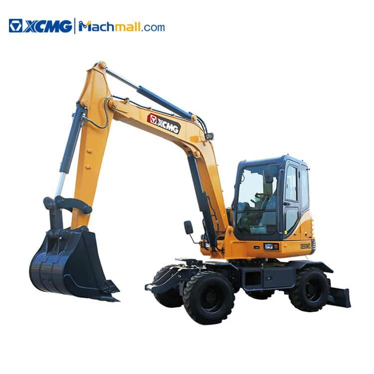 XCMG small excavators on wheels XE60WD 6 ton wheel excavator for sale