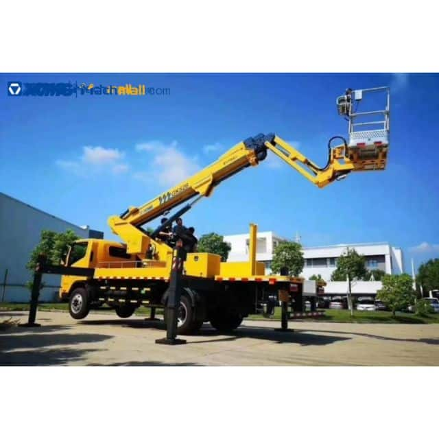 XCMG 25m rated load 300kg truck mounted boom lift for sale