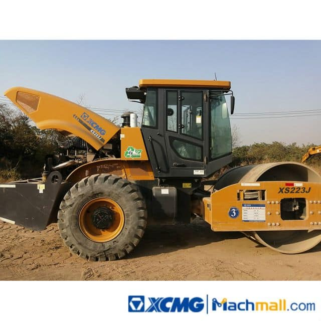 XCMG Used 22ton Vibratory Road Roller XS223J 2019 Road Compactor For Sale