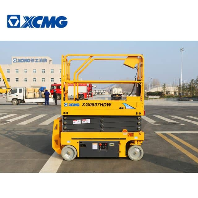 XCMG factory 8m mini self propelled hydraulic scissor lift XG0807HDW