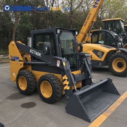 1 ton XC740K XCMG brands mini skid steer loader with attachments price