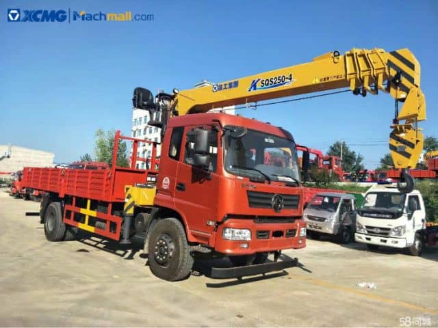 XCMG mini truck mounted crane 5 ton price