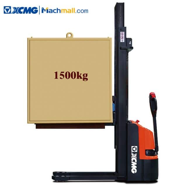 XCMG official XCS-PW15 lift truck 1.5 ton stacker for narrow warehouse sale