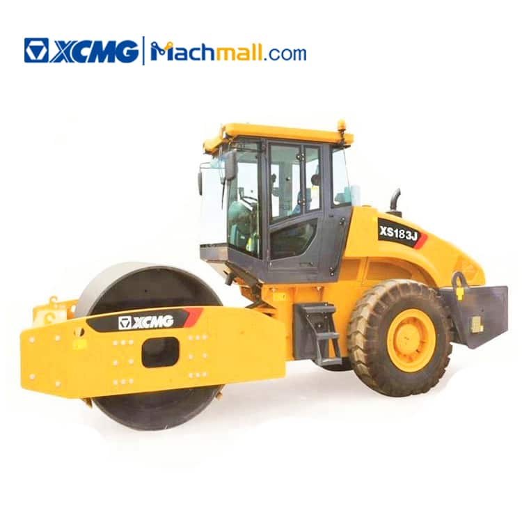 XCMG official 18 ton single drum vibratory road roller XS183J for sale