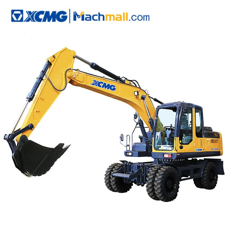 15 ton XCMG machine XE150WB wheel excavator for sale