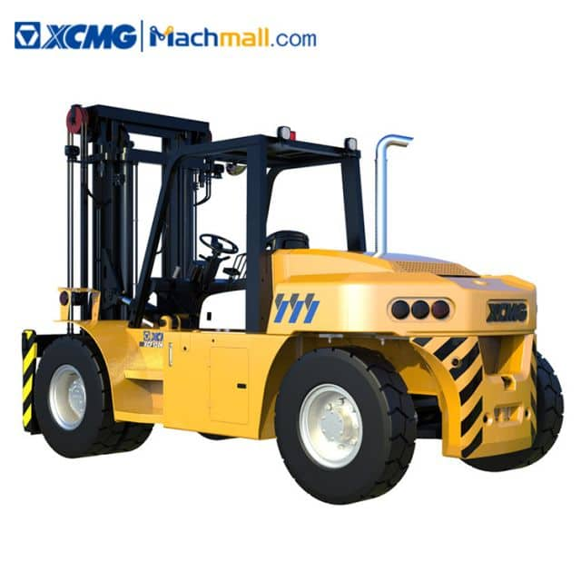 XCMG new large-tonnage 12 ton forklift diesel 3m lift height for quay warehouse sale