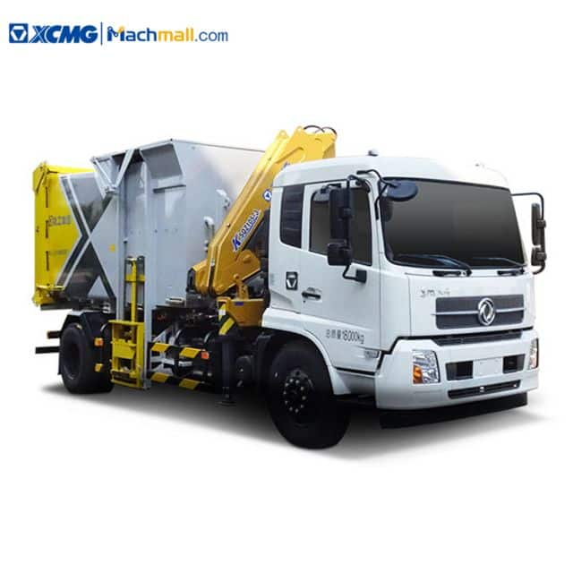 XCMG 10 m3 Capacity Garbage Truck With Crane For Sale
