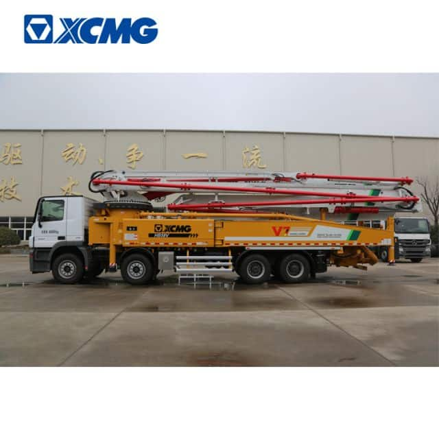 XCMG 58m concrete pump truck HB58V new concrete truck machine with mercedes Benz chassis price