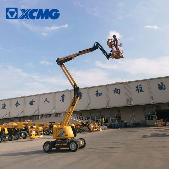 XCMG 16m small boom lift XGA16AC electric articulated boom lift platform price