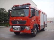 XCMG 5 ton fire truck AP50F2 compressed air foam tanker fire fighter trucks