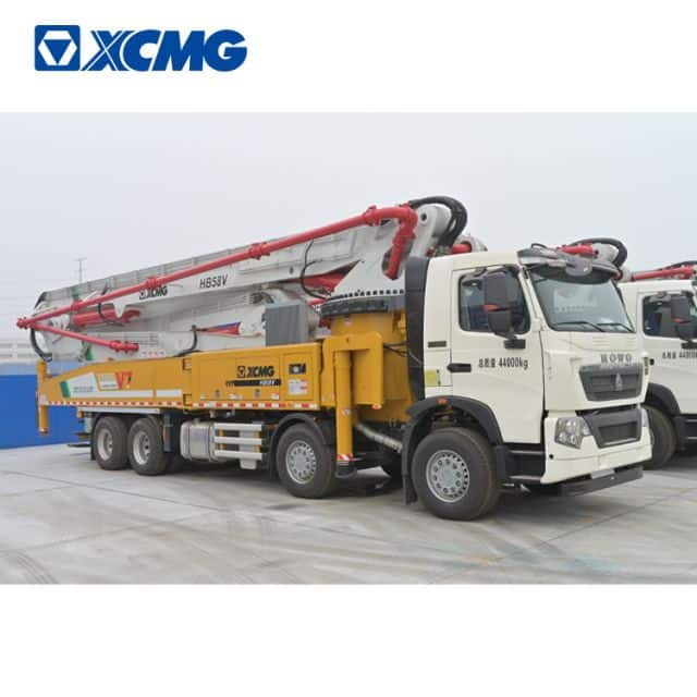 XCMG Schwing 58m concrete pump truck HB58V new concrete truck with sinotruk howo chassis for sale