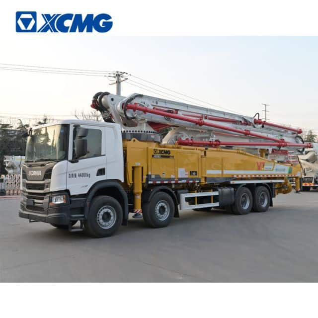 XCMG Schwing concrete pump truck HB58V China new 58m concrete truck with scania chassis for sale