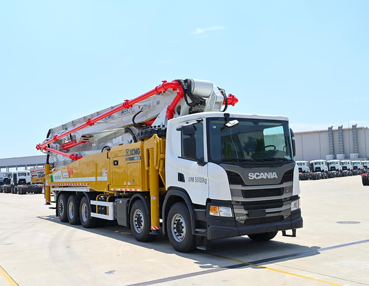 XCMG Official Concrete Pumps HB62V China 62m Truck Mounted Concrete Pump Prices