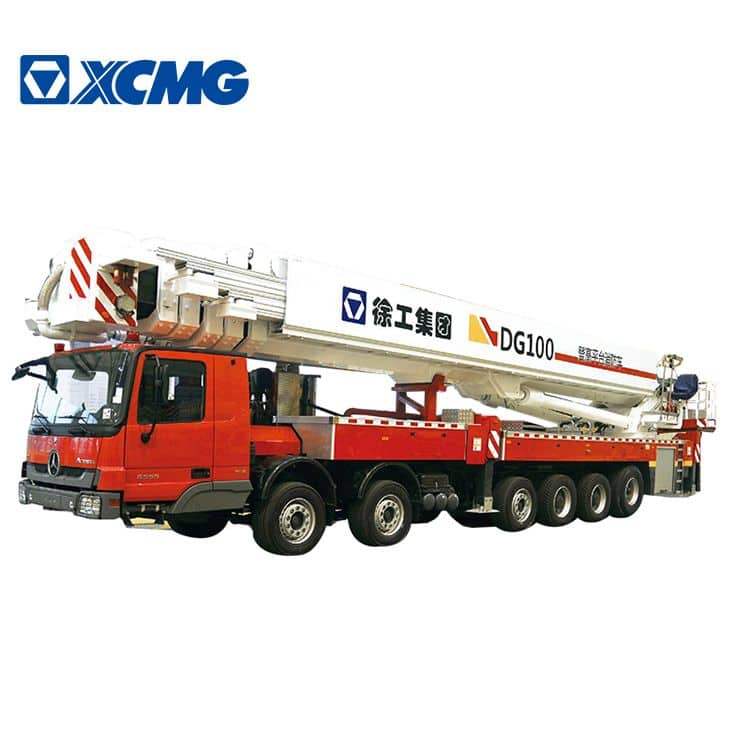 XCMG 100m fire truck DG100 China new hydraulic aerial platform fire truck with Benz chassis price