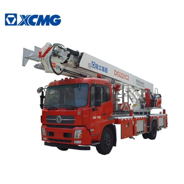 XCMG 4x2 fire rescue truck DG22C2 small mini 22m aerial platform fire truck price for sale