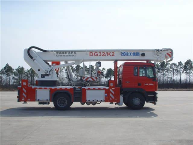 XCMG official 32m DG32K2 China small aerial platform fire truck price