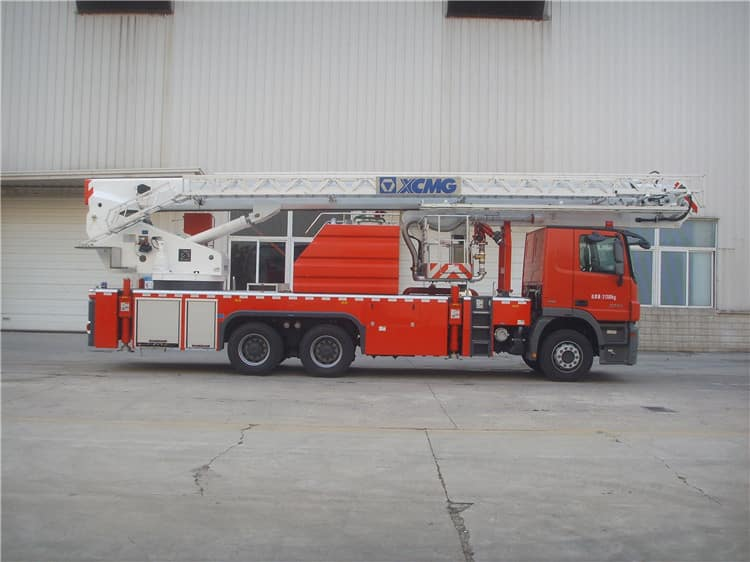 XCMG official 6x4 aerial platform fire truck DG34M1 34m fire fighting truck with Benz chassis price