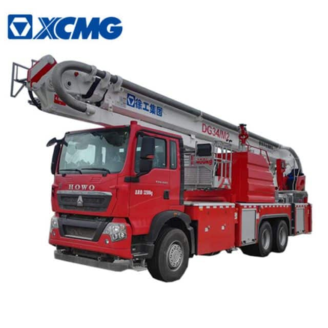 XCMG Official Fire Truck 34m aerial platform fire truck DG34M2 new telescopic platform firefighter truck price for sale