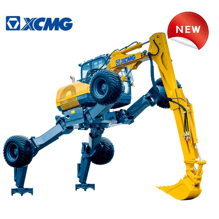XCMG Official 10 Ton Small Wheel Excavator ET110 China Brand New Walking Excavator