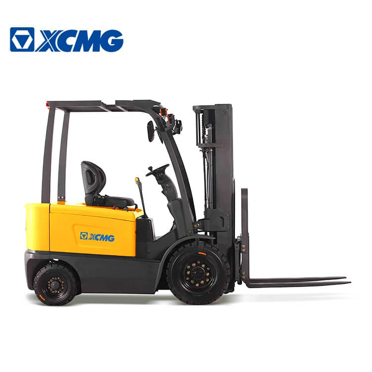 XCMG Electric Reach Forklift 4 Wheel 2.5 Ton Small Forklifts Truck Machine With FB25-AZ1 Attachment