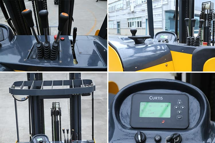 XCMG Electric Lifter 2.5t Small Forklift Self Lift Pallet Stacker FBR25-AZ1 With 2 Stage 3m Mast