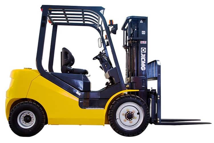 XCMG Diesel Forklift Truck 2.5 Ton Fork Lift Trucks FD25T Forklifts With Isuzu Engine Diesel Price