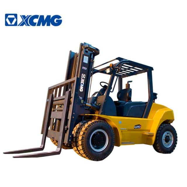 XCMG 7 ton diesel forklifts tractor FD70T with side shifter for sale