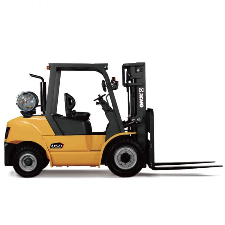 XCMG 5T Gasoline and LPG Forklift FGL50T GM Engine with triplex mast