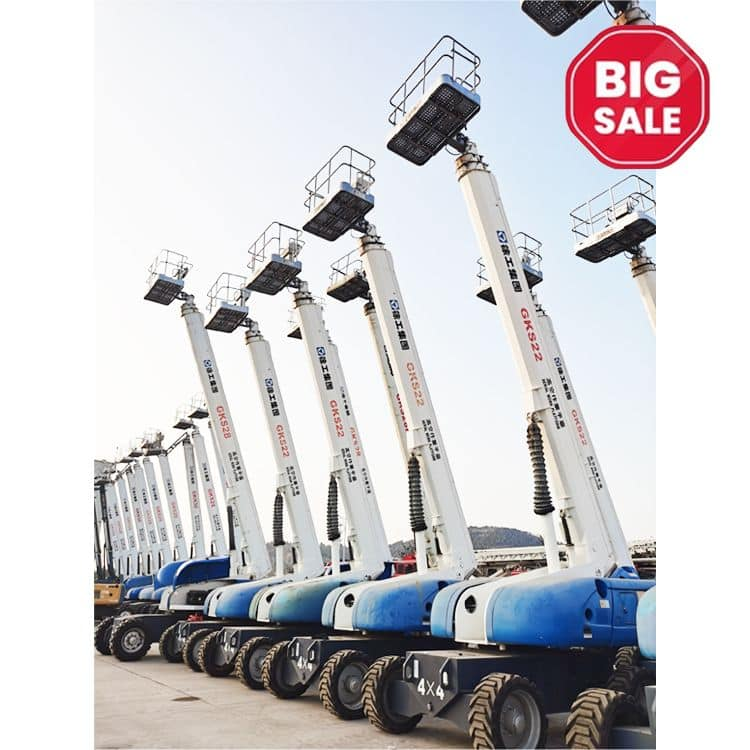 XCMG cheap telescopic boom lift GKS22 China 22m stock discount boom lift table equipment on sale