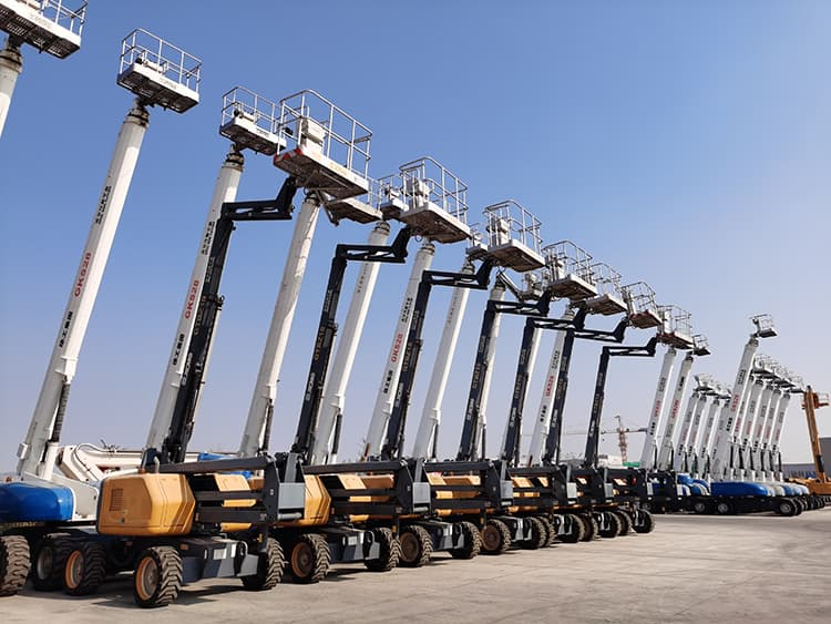 XCMG official 28m cheap telescopic boom lift GKS28 stock discount lift table equipment on sale