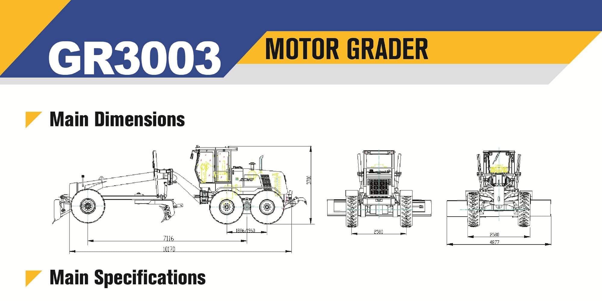 XCMG official manufacturer GR3003 motor grader for sale