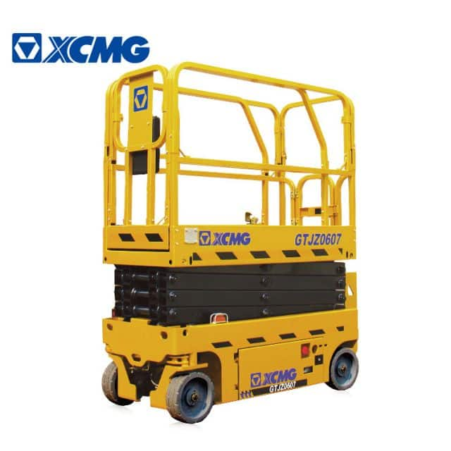 XCMG official 7m height electric mobile scissor lift GTJZ0607 Aerial Work Platform with factory price for sale