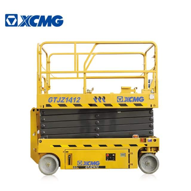 XCMG official 14m self-propelled scissor lift GTJZ1412 aerial working platform with electric and hydraulic drive system for sale