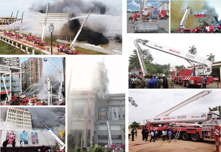 XCMG Official SmallFire Truck 32m new 6x4 aerial ladder fire truck YT32M2  price for sale