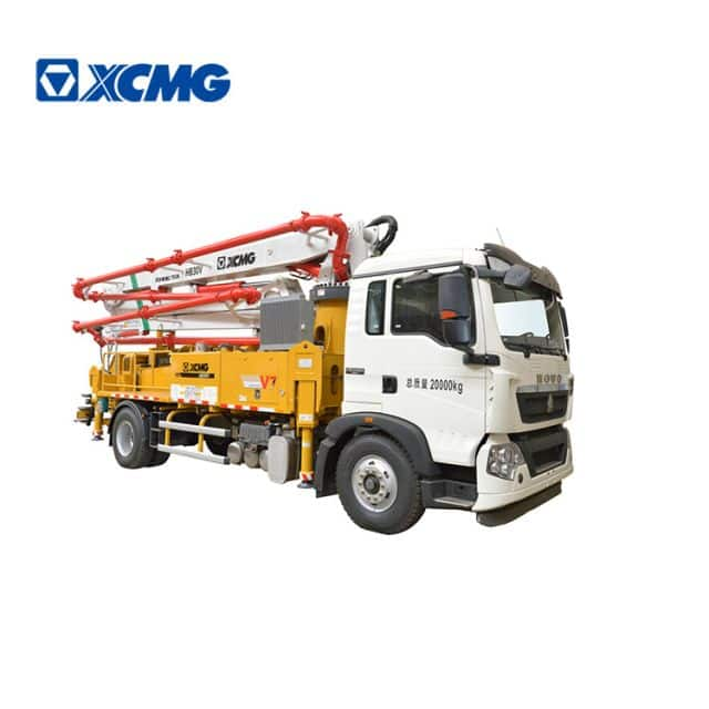 XCMG Schwing official 30m concrete pumps with truck HB30V concrete pump with HOWO chassis price