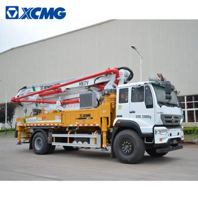 XCMG Schwing concrete pump truck HB37V China new 37m concrete truck with Sitrak chassis price