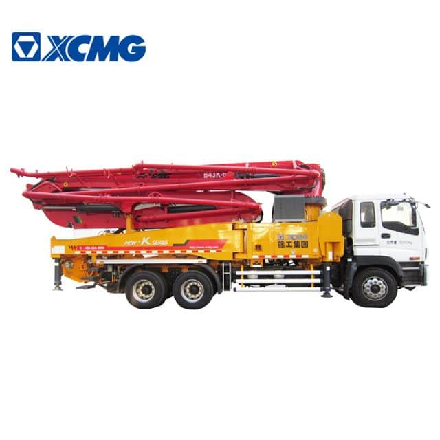 XCMG Official good performance 43m concrete pump HB43V truck mounted  with diesel price for sale