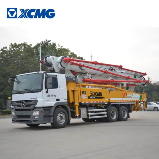 XCMG Schwing concrete pump truck HB50V China new 50m concrete truck with benz chassis price