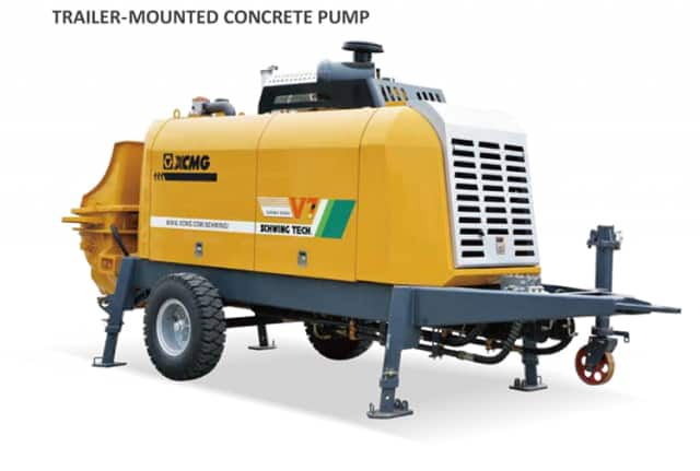 XCMG Official HBT10020V China brand Concrete Machinery trailer concrete pump for sale