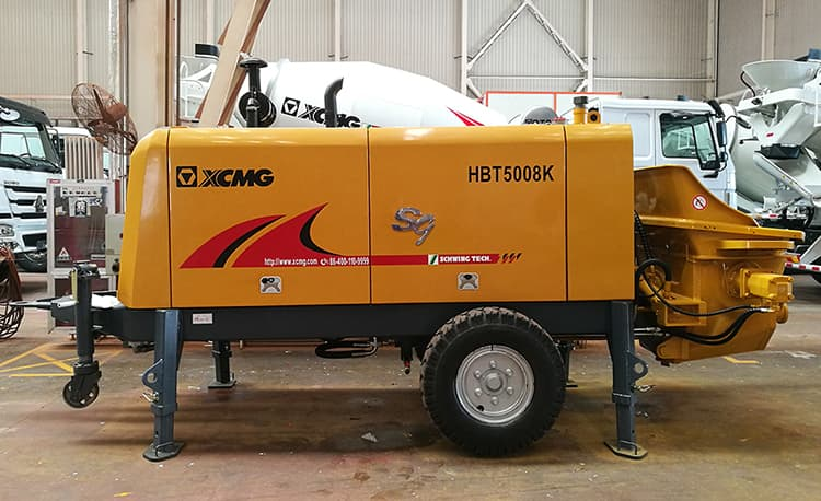 XCMG Factory HBT5008K China Brand New Trailer Mounted Concrete Pumps